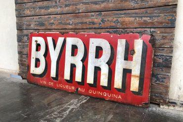 Emailleschild Byrrh Wein