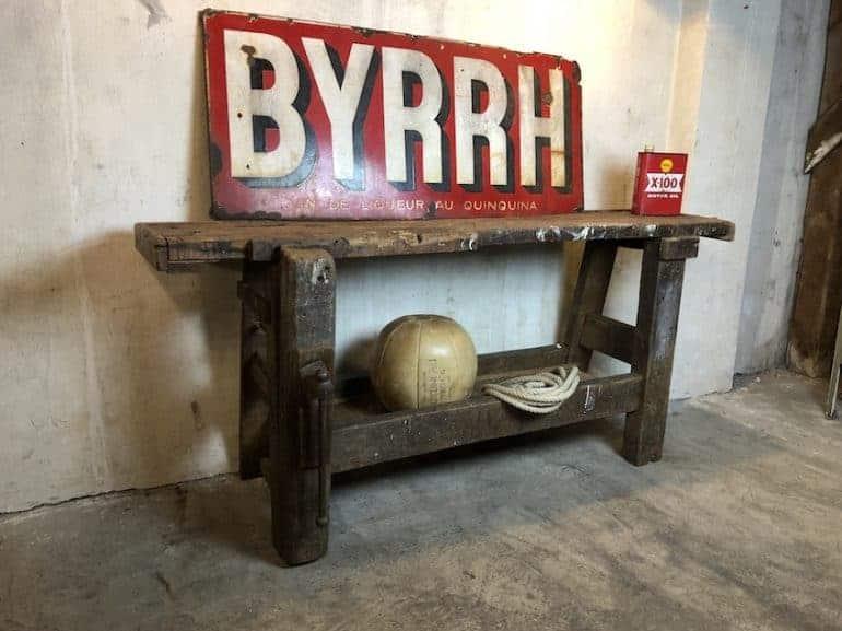 Werkbank als Möbelstück