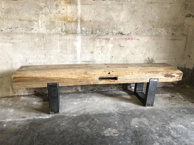 Industrial TV Sideboard aus Eichenbalken